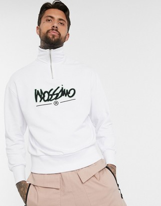 Mossimo Relaxed Funnel 1/4 zip sweatshirt in white