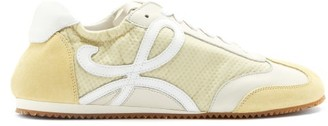 Loewe Ballet Runner Nylon And Suede Trainers - Light Yellow