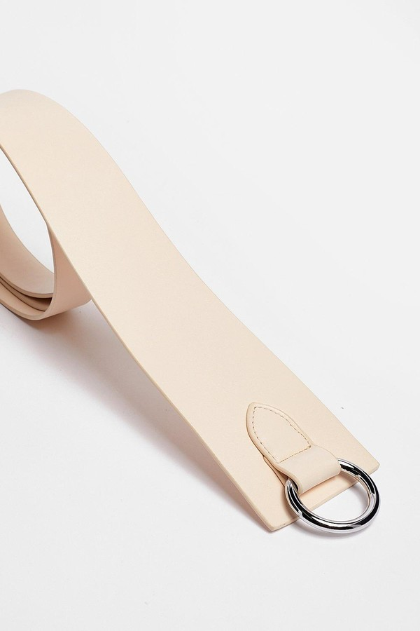 Thumbnail for your product : Nasty Gal Womens Faux Leather Knot Tie Circle Belt - Beige - One Size