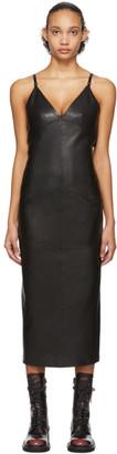 Yang Li Black Leather Lingerie Dress