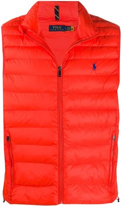 Polo Ralph Lauren Logo Embroidered Quilted Gilet