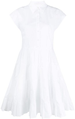 See by Chloe Pleated Panel Flared Shirt Dress