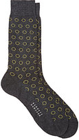 Barneys New York Men's Circle-Pattern Mid-Calf Socks-DARK GREY
