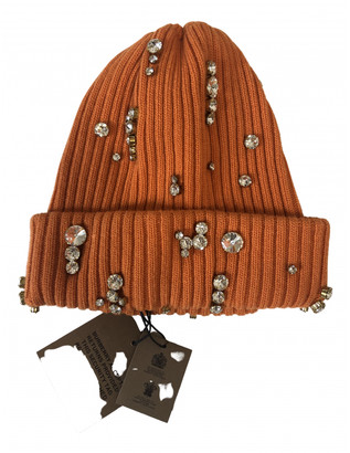 Burberry Orange Wool Hats