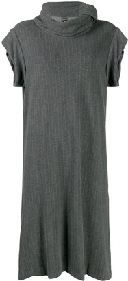 Jean Paul Gaultier Pre Owned 1990's Pinstriped Midi Dress