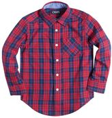 Chaps Boys 4-7 Long Sleeve Woven Plaid Button-Down Shirt