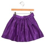 Oscar de la Renta Girls' Bow-Accented Silk Skirt