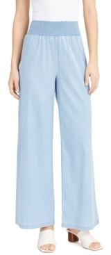 Bar III Wide-Leg Smocked-Waist Pants, Created for Macy's