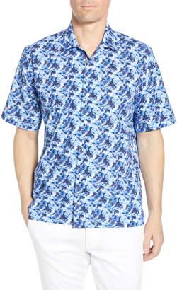 Bugatchi Classic Fit Floral Print Cotton Shirt