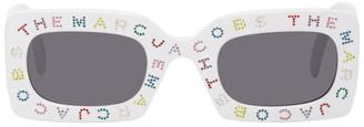 Marc Jacobs White The Logo Rectangular Sunglasses