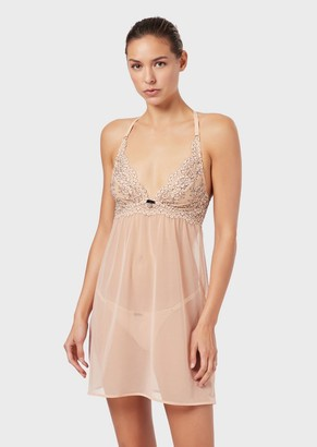 Emporio Armani Nightwear Set With Lace Details