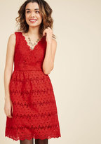 ModCloth Stately Satisfaction Lace Dress in Tomato in 3X