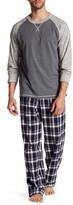 Majestic Raglan Shirt & Plaid Pant PJ Set
