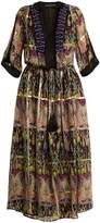 Etro Embellished silk-blend chiffon dress