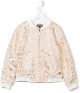 Roberto Cavalli metallic floral jacquard jacket - kids - Polyester/metal - 6 yrs