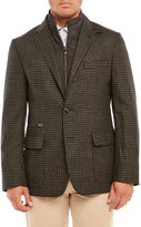 Corneliani Wool & Cashmere ID Check Jacket