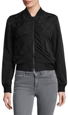 07b2a5be1 Ruched Bomber Jacket
