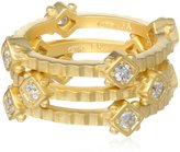 Freida Rothman Three Stack Square Station Ring, Size 8