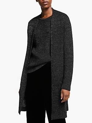Eileen Fisher Long Merino Sparkle Cardigan