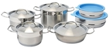 Berghoff Hotel Line Cookware Set with Mixing Bowls (12 PC)