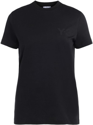 Y-3 Y3 Black T-shirt Made Of Cotton With Front Logo