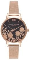 Olivia Burton Lace Detail Mesh Bracelet Watch, 30mm