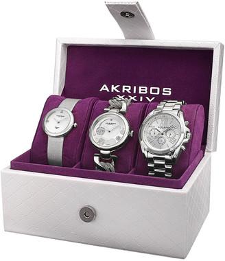 Akribos XXIV Women's Set Of Three Watches