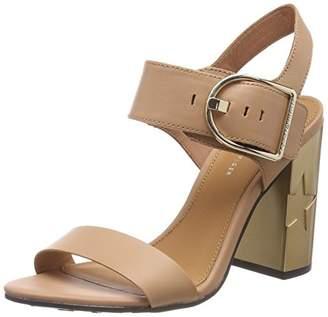Tommy Hilfiger Women's Feminine Heel Oversized Buckle Ankle Strap Sandals