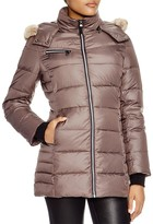Andrew Marc Paris Fur Trim Puffer Coat