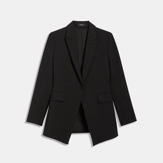 Theory Good Wool Long Blazer