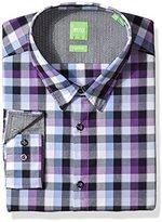 HUGO BOSS BOSS Green Men's C-Bustai Poplin Check Button Down Shirt
