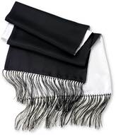 Black And White Reversible Silk Scarf By Charles Tyrwhitt
