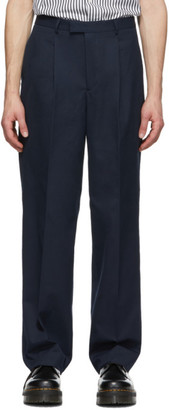 Noah NYC Navy Cotton Suit Trousers