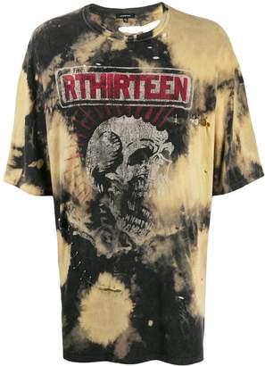 R 13 tie-dye print T-shirt