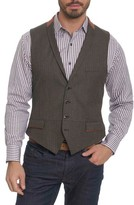 Robert Graham Men's Grenville Herringbone Wool Vest