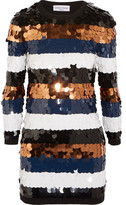 Sonia Rykiel Sequined Wool-Jersey Mini Dress