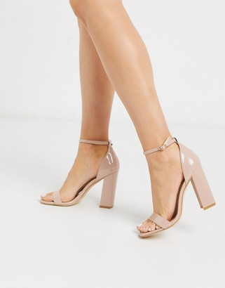Truffle Collection block heeled square toe sandals