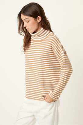 French Connection Micro Stripe Roll Neck Jumper