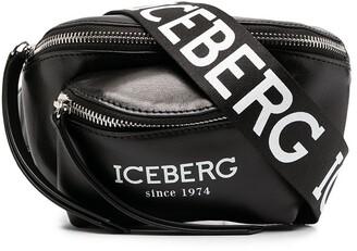 Iceberg Logo Print Belt Bag