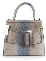 Boyy Silver Leather Glitter Degrade Karl Top Handle Tote Handbag NEW $1030