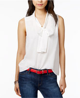 Tommy Hilfiger Tie-Neck Blouse, Only at Macy's