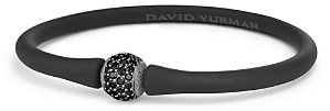 David Yurman Spiritual Beads Rubber Bracelet with Black Diamond