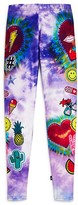 Terez Girls' Tie Dye Patch Leggings - Big Kid