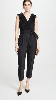 Rebecca Taylor Sleeveless Pleated Jumpsuit