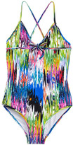 Milly Minis Cross-Back One Piece Swimsuit (Big Girls)