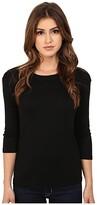 Michael Stars Shine Crew Neck Shirt (Black) Women's T Shirt