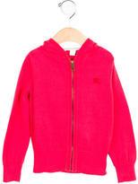 Burberry Girls' Hooded Zip-Up Sweater