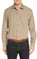Cutter & Buck 'Crown' Regular Fit Plaid Sport Shirt (Big & Tall)