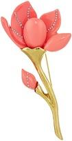 Oscar de la Renta Magnolia Resin Flower Brooch