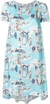Blugirl beach print T-shirt dress